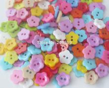 NBNLVO 12MM flower buttons for crafts design assorted colorful 500 pieces Hand made plastic