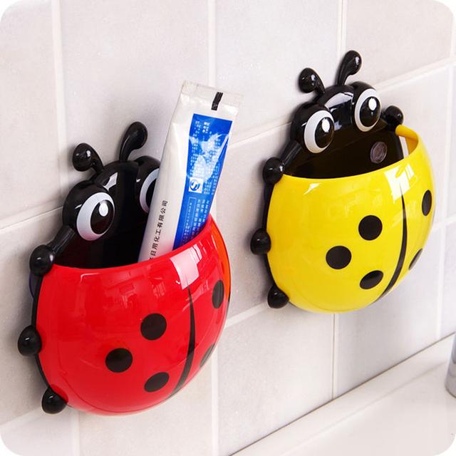 Ladybug Shaped Toothbrush Holder
