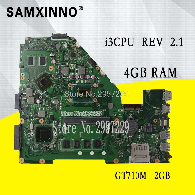 X550CL Motherboard i3-4GB For ASUS X550C X552C R510C R510C Y582C laptop Motherboard X550CL Mainboard X550CL Motherboard test все цены