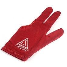 CUESOUL 10pcs/set 3 Finger Billiards Gloves Pool Cue RED Color