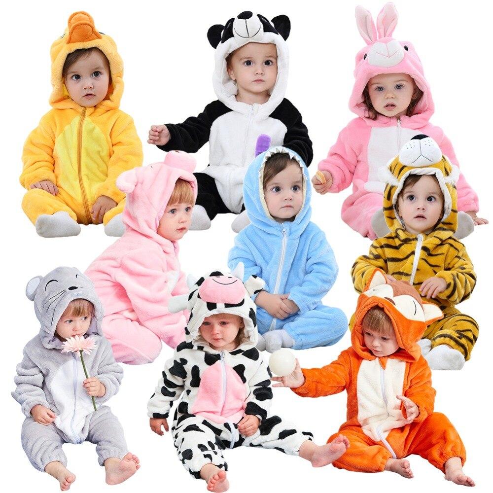 2019 Nieuwe Stijl Zachte Kinderen Pyjama Winter Flanel Animal Pyjama Baby Flanel Cartoon Dier Gewaden Winter Rits Jumpsuit Elegant En Sierlijk