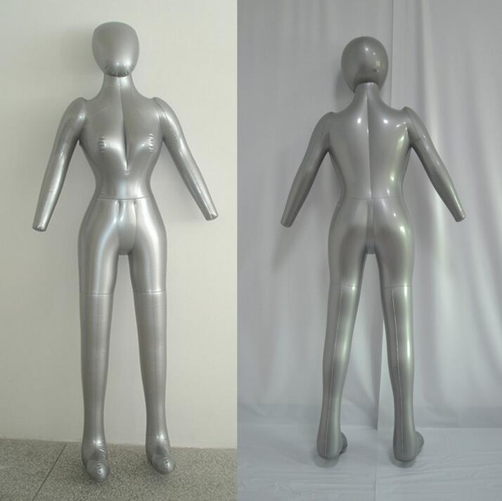 Inflatable Full Body Female Model with Arm Ladies Mannequin Window Display Props Free shipping,M00358 mannequin