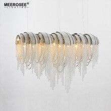 Aluminum Chain Pendant Lights Kroonluchter Vintage Hanging Lamp Lustre Amparas De Techo Colgante Moderna Luminaire Suspendu