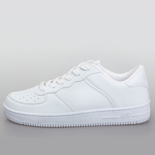 2175d7699 2016 New Brand Original White Casual Shoes Cool Classic Air Men Women  Fashion Flats Shoes Low Top&Higt Top Plus Size 35-44