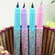 0.38mm Cute Kawaii Flowers Plastic Fountain Pen With Ink Sac Ink Pen For Kids Students Gift Office School Supplies Stationery unicorn fountain pen cute gift set school supplies 0 5mm office supplies office accessories pen ink pen high quality gift pen