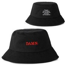 新加入ブラック女性男性くそ刺繍漁師帽子ファッションバケット帽子ブランドファッションcheapu