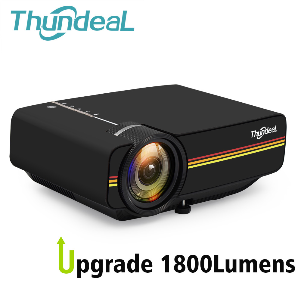 ThundeaL YG400 su Mini proiettore YG400A 1800 Lumen Wired Sync Display Più stabile di WiFi Beamer Movie AC3 HDMI VGA Projector
