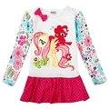 Meninas vestir meninas crianças roupas roupa dos miúdos vestidos para meninas novatx meus littles h6422d pony apliques princesa vestido ocasional