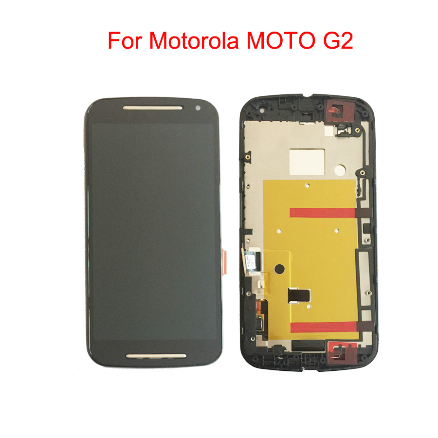 LCD <font><b>Display</b></font> With Touch Screen Digitizer Assembly with frame For <font><b>Motorola</b></font> MOTO G2 XT1063 XT1064 <font><b>XT1068</b></font> XT1069 image