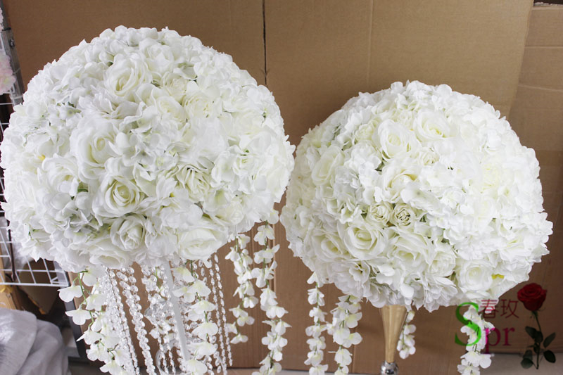 SPR 30cm/35cm/40cm/50cm dia wedding event planning artificial wedding table flower ball centerpiece decoration stage arch floral