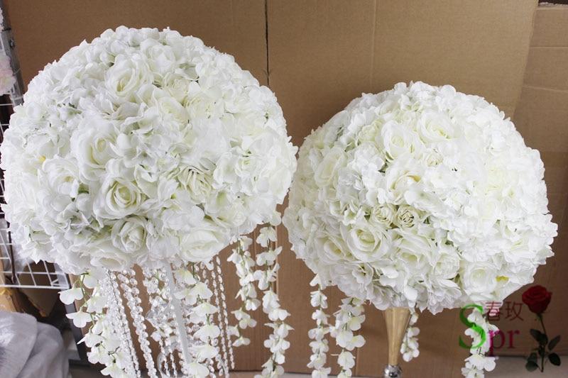 SPR 30cm / 35cm / 40cm / 50cm dia bryllup arrangement planlægning kunstig bryllup bord blomsterkugle centerpiece dekoration stadium arch blomster