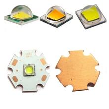 1pcs 10W Cree XM-L T6 / L2 Flashlight Chip Warm White 3500k Cool White 6000k LED Light Lamp Bulb + 20mm / 16mm Copper PCB Base