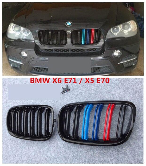 Auto Grille Grilles de Course Pour BMW X6 E71 X5 E70 2008.2009.2010.2011.2012.2013.2014 Haute Qualité Modification Accessoires