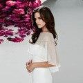 2016 Hot Sale Elegant Chiffon Nupcial Do Casamento Bolero Jacket Casamento Barato Acessórios De Noiva Sob Encomenda Frete Grátis Envoltório de Noiva