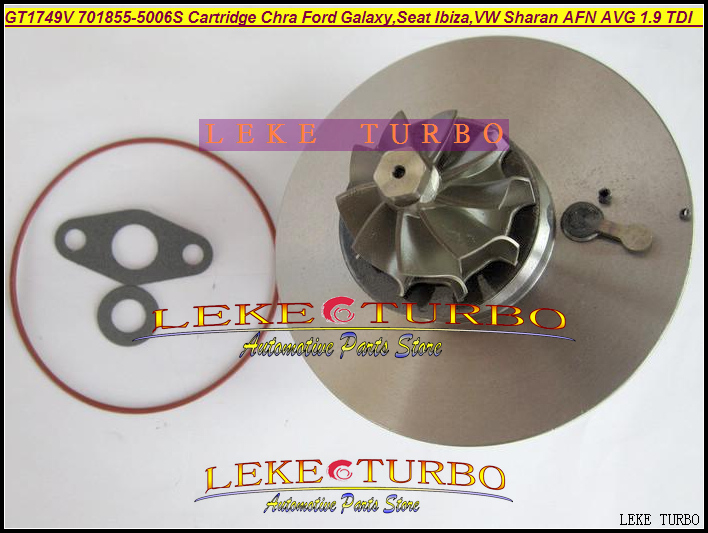 Free Ship Turbo Cartridge Chra GT1749V 701855-5006S 701855 028145702S 145702E For Ford Galaxy Seat Ibiza VW Sharan AFN AVG 1.9L