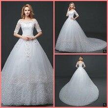 SUNTINGTING Best ball gown wedding dress gowns chapel train