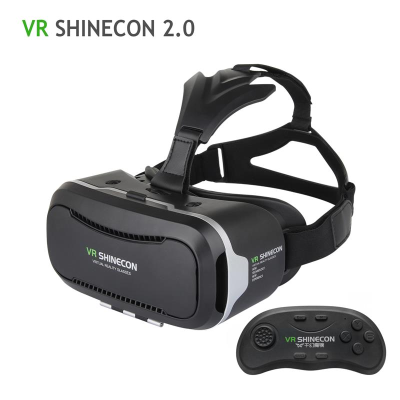 100% Original VR Shinecon 2.0 Upgraded 3D Glasses VR Headset UV Filter Protect Eyesight Virtual Reality Glasses 2017 Hot