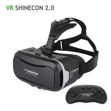 100% D'origine VR Shinecon 2.0 Mis À Jour 3D Lunettes VR Casque UV Filtre Protéger La Vue Lunettes de Réalité Virtuelle 2016 Chaude