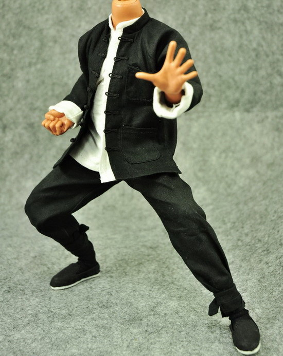 ФОТО 1/6 scale figure doll clothes male Bruce Lee Kung Fu suit for 12