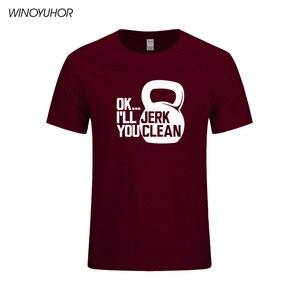 Image 5 - Ok Ill pislik size temiz baskı T shirt erkek komik spor t shirt rahat kısa kollu üstleri vücut geliştirme Tees Tops