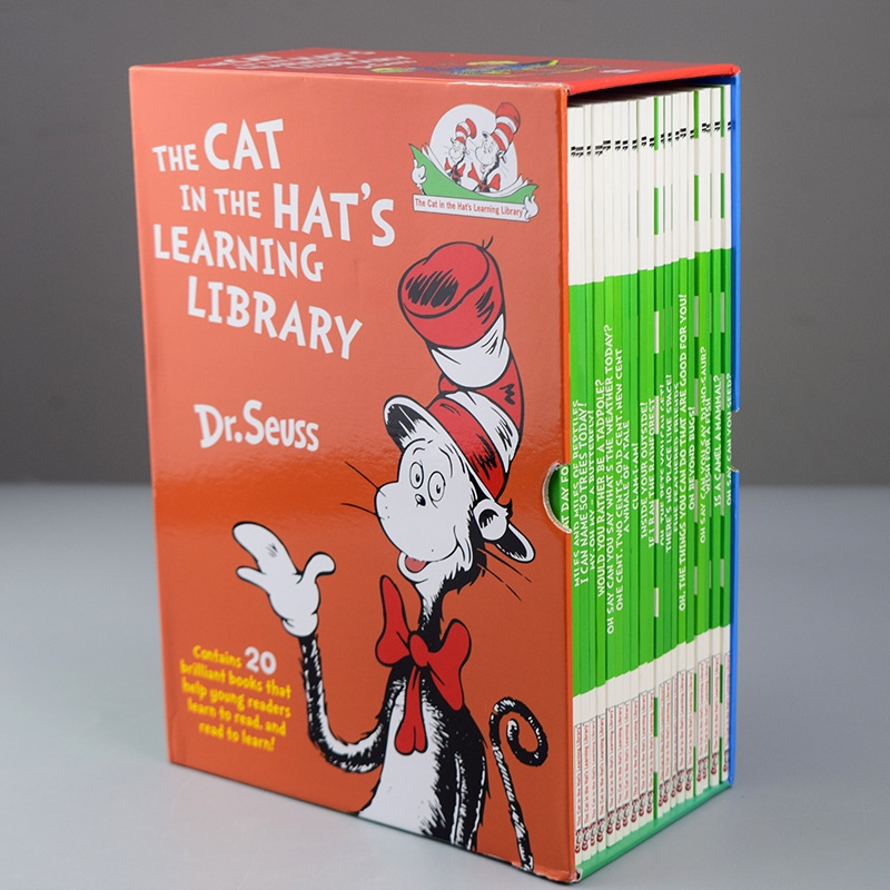 20 Books/Set Dr  Seuss Cat In The Hat's Learning Library English Story  Books for Children Kids Coloring Book Dr Seuss