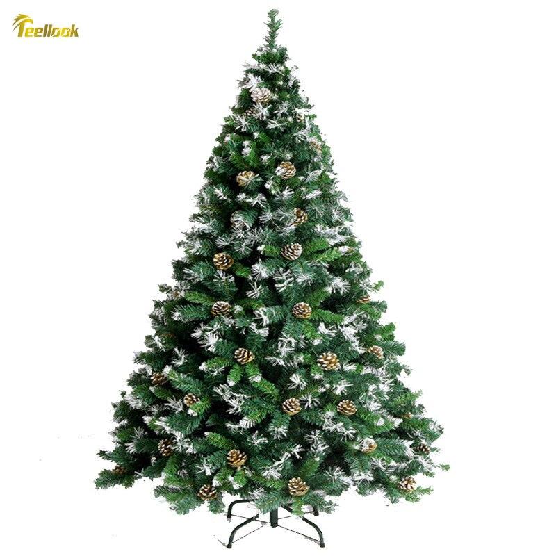 Teellook 1.5 M / 1.8 M Encryption Pvc Pine Cone Christmas Tree Christmas Family Hotel Shopping Mall Decoration Supplies