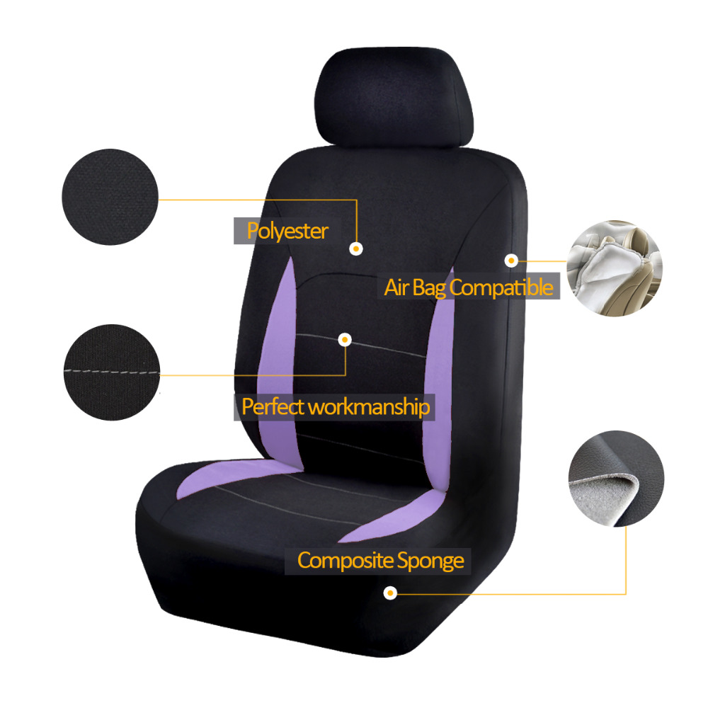 Polyster Fabric Material Car Seat Covers Full Set Universal Fit Auto Interior Accessories Decoration Protector Cover Car-Styling