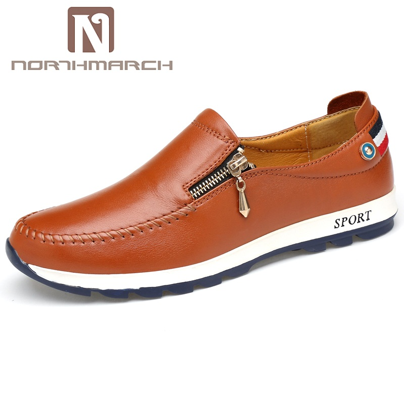 NORTHMARCH Brand Men's Shoes Genuine Leather Slip-On Loafers Men Casual Shoes Leather Men Flat Shoes Men Mocasines Hombre new fashion men luxury brand casual shoes men non slip breathable genuine leather casual shoes ankle boots zapatos hombre 3s88