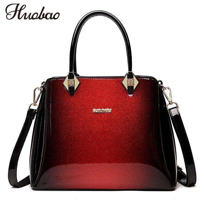 ecb7c693aef0 2018 роскошные женские лакированные кожаные сумки высокого качества женские  сумки через плечо известные брендовые дизайнерские женские