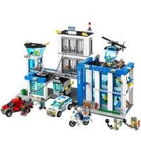 BELA 10424 Building Block Sets City Police Station 60047 Model Policeman Figures 890pcs Bricks Toys For