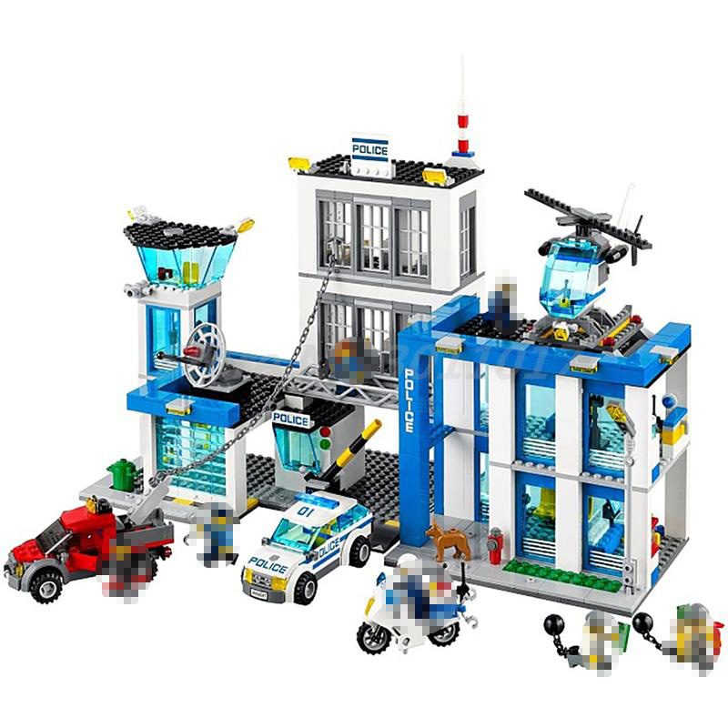 BELA 10424 Building Block Sets City Police Station 60047 Model Policeman Figures 890pcs Bricks Toys For Children Christmas city block mini military modern war recon support engineer navy swat police figures building block bricks toys for children