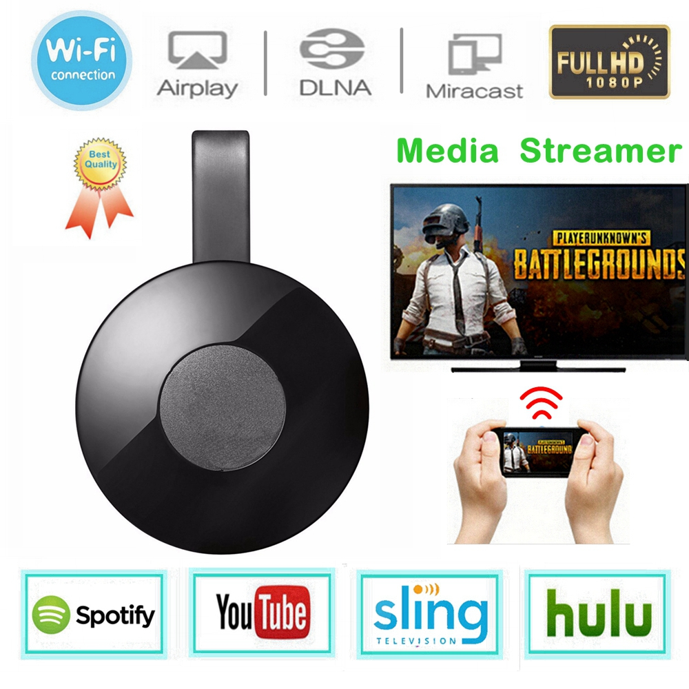 WiFi Display Dongle Media Streamer für Google Chrome 2 Audio HDMI Crome Chrom Cast Cromecast 2 YouTube Miracast Mirascreen