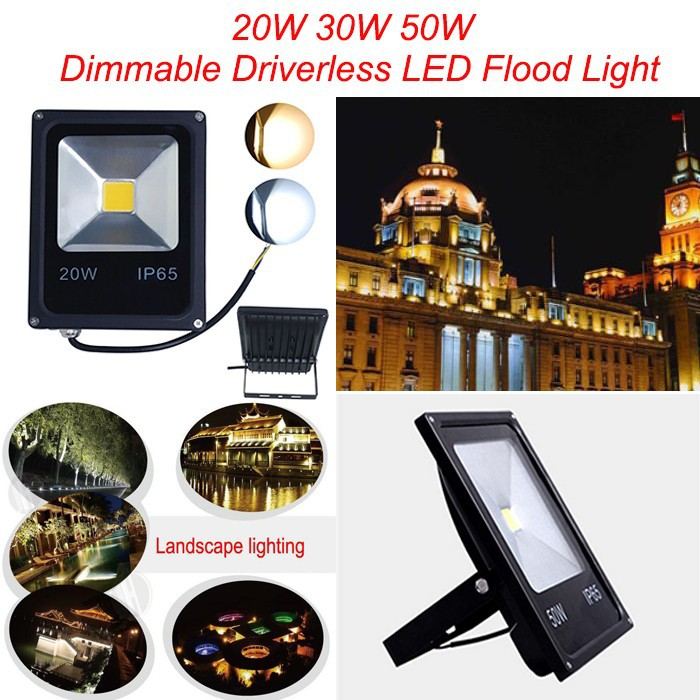 100W 150W 200W 250W Dimmable LED Flood Light,Cheap High Power LED Garden Spotlight Waterproof 220-265V LED Landscape Floodlight 90w led driver dc40v 2 7a high power led driver for flood light street light ip65 constant current drive power supply