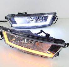 Car-styling,Rapid day light,2013 2014 2015 2016,LED,Free ship!2pcs,car-detector, Rapid fog light,car-covers,octavia,superb