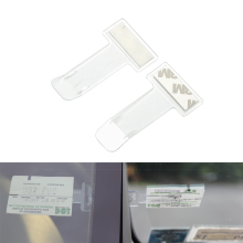1 Pair Car Windscreen Parking Ticket Clips Decals Portable
