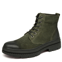 Audorci Fashion Winter Shoes For Men Suede Pu Leather Snow Men Boots High Quality Comfy Casual