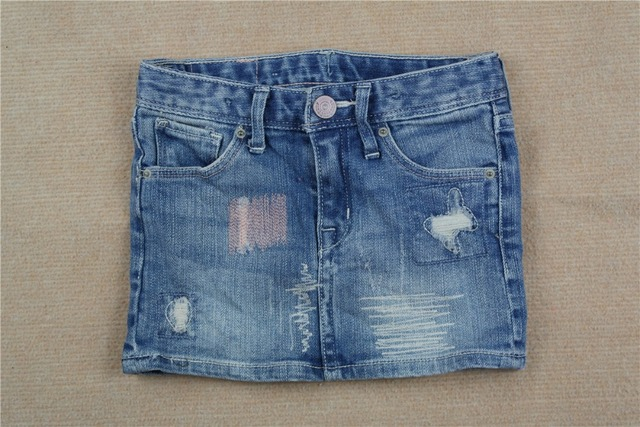 bd5e2acad5d (3-8Y) faldas ninas Denim Skirt tutu Girls Jeans Skirts Damage Washed Denim  skirt children clothing