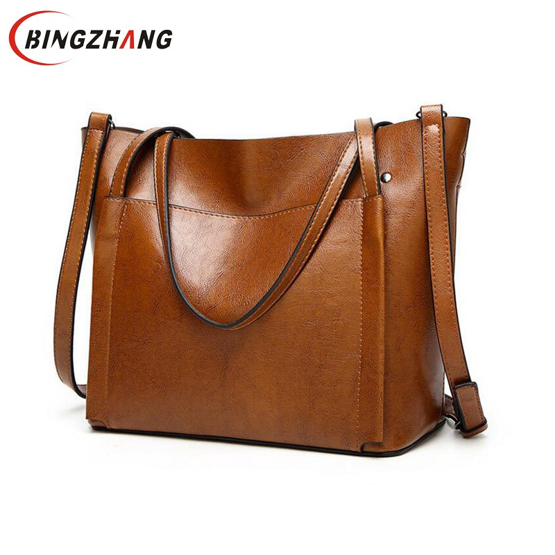 Leather Bags Handbags Women'S Famous Brands Bolsa Feminina Big Casual Women Bag Female Tote Shoulder Bag Ladies Large L4-2987