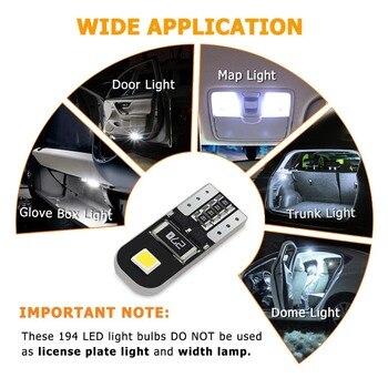 10 pièces W5W T10 LED Canbus ampoules pour Audi BMW VW Mercedes voiture intérieur dôme lumière coffre lampe Parking lumières sans erreur 12V 1