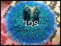 Синяя юбка пачка, профессиональные балетные пачки для танцевального шоу, Щелкунчик, женские пачки на заказ для балерианских детей, размер