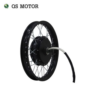 QS Motor Bicycle Spoke motor 3000W 205 50H V3 Type Hub Motor lacing with wheel rim 18inch