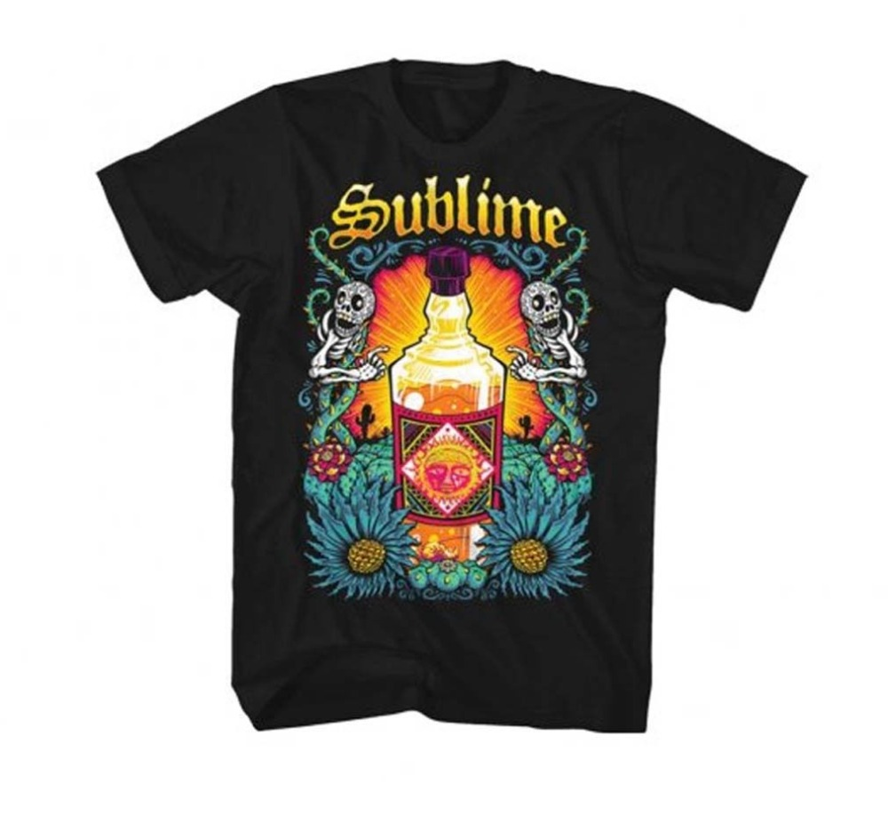 T Shirt Design Shop Short Sleeve Fashion 2018 Crew Neck MenS Sublime Sun Bottle Soft Tee Shirts For Men
