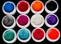 Nuevo 12 UNIDS Mezclar Colores Pearly Lustre Gel Ultravioleta de Acrílico Del Arte Del Clavo Fijado para el Clavo