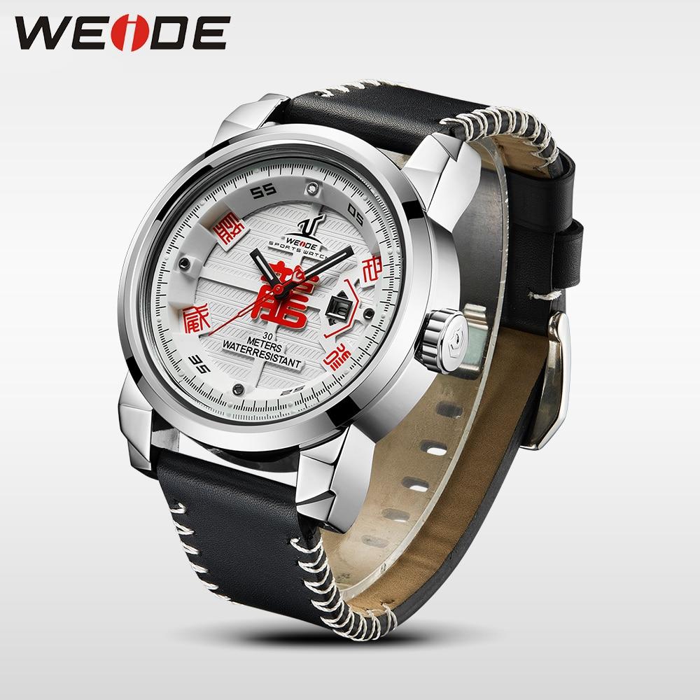WEIDE Marca de Relojes para Hombre 30 Correa de Cuero de Alta Calidad - Relojes para hombres - foto 4