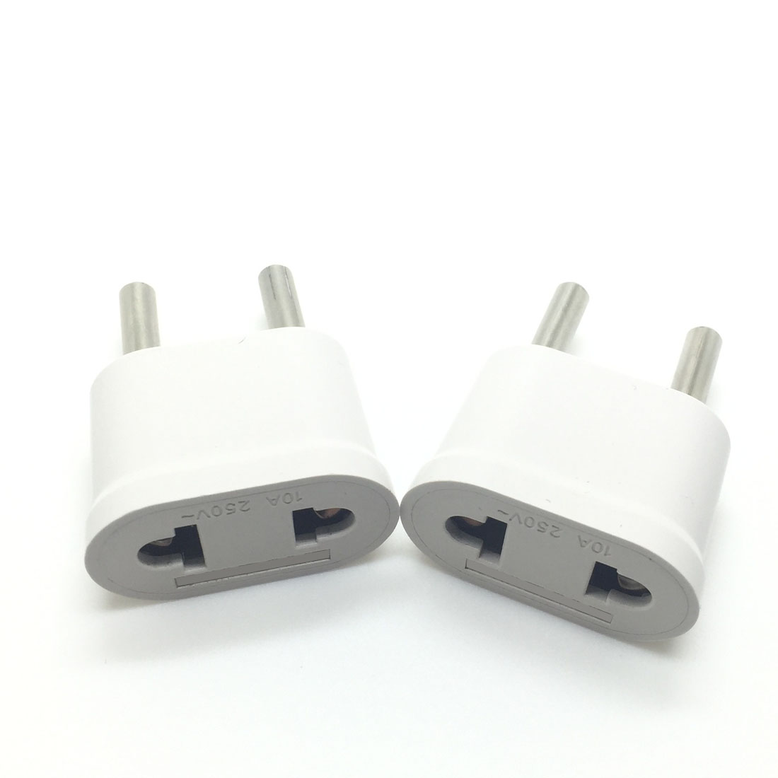 MAIF Good Sale 2pcs US USA to EU EURO Europe Travel Power Plug Adapter Charger Converter for USA converter White