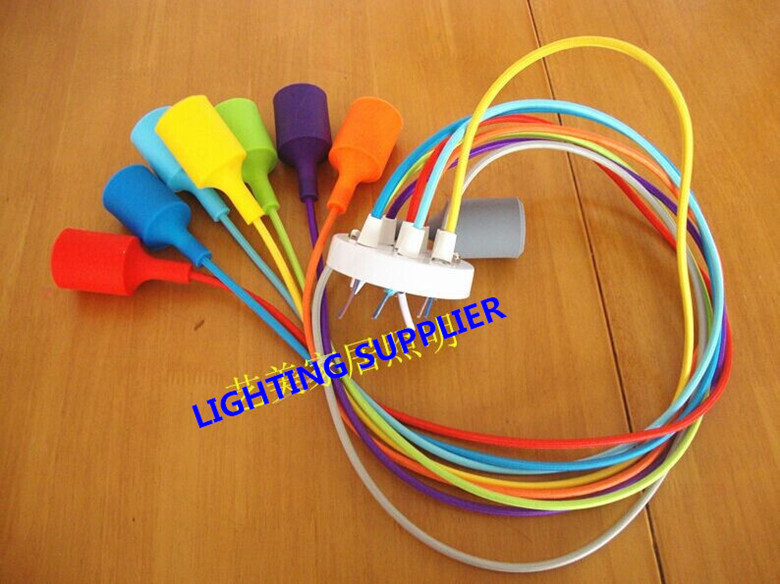 Color Silicone Braided Rope Single Head Pendant Light Modern Brief Decoration Bar Table Lamp Without Bulbs