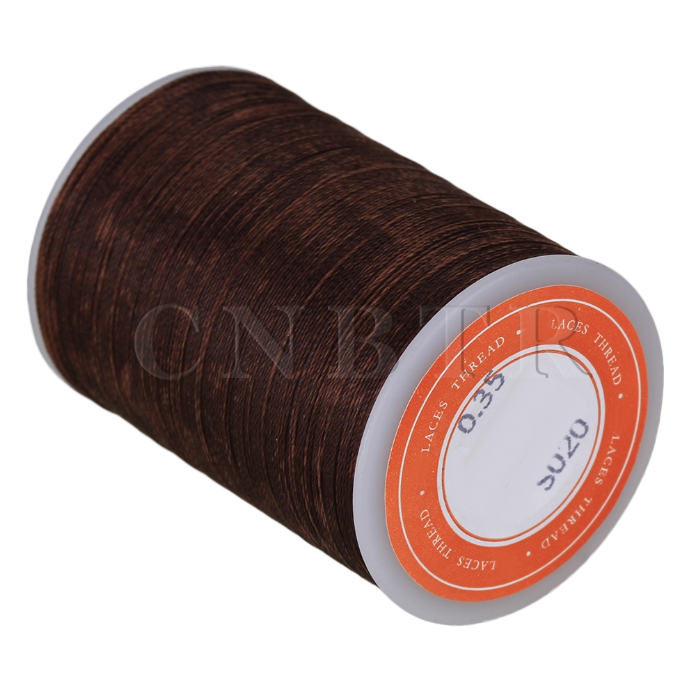 CNBTR Dark Brown 3-Ply Waxed Polyester Cord Leather Sewing Thread Round 300M 0.35MM сумочка для пустышек ju ju be paci pod legacy the queen be 13aa11l 5061