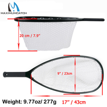 Maximumcatch Top Quality Fly Fishing Landing Net Clear Rubber Net Carbon Frame Nomad Hand Strong & Light