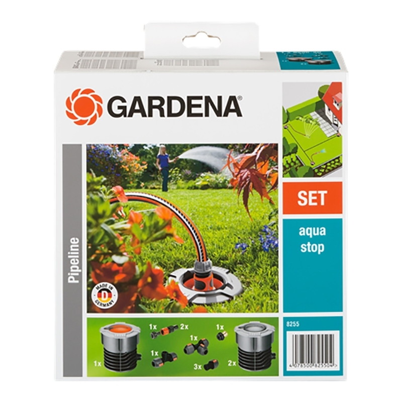 купить Watering System GARDENA 08255-20.000.00 (9 items included, the number of input connections 1, number of output connections 2, aquastop, морозостойкий case, removable filter) дешево