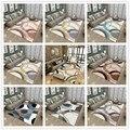 Хрустальные бархатные 3D ковры для гостиной  спальни  коврики  прикроватное одеяло  современный скандинавский геометрический домашний мягк...